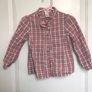 Janie and Jack 2T girls button down shirt